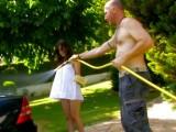 Vidéo porno mobile : Tiffany fait mousser le tuyau de Dick Tomass